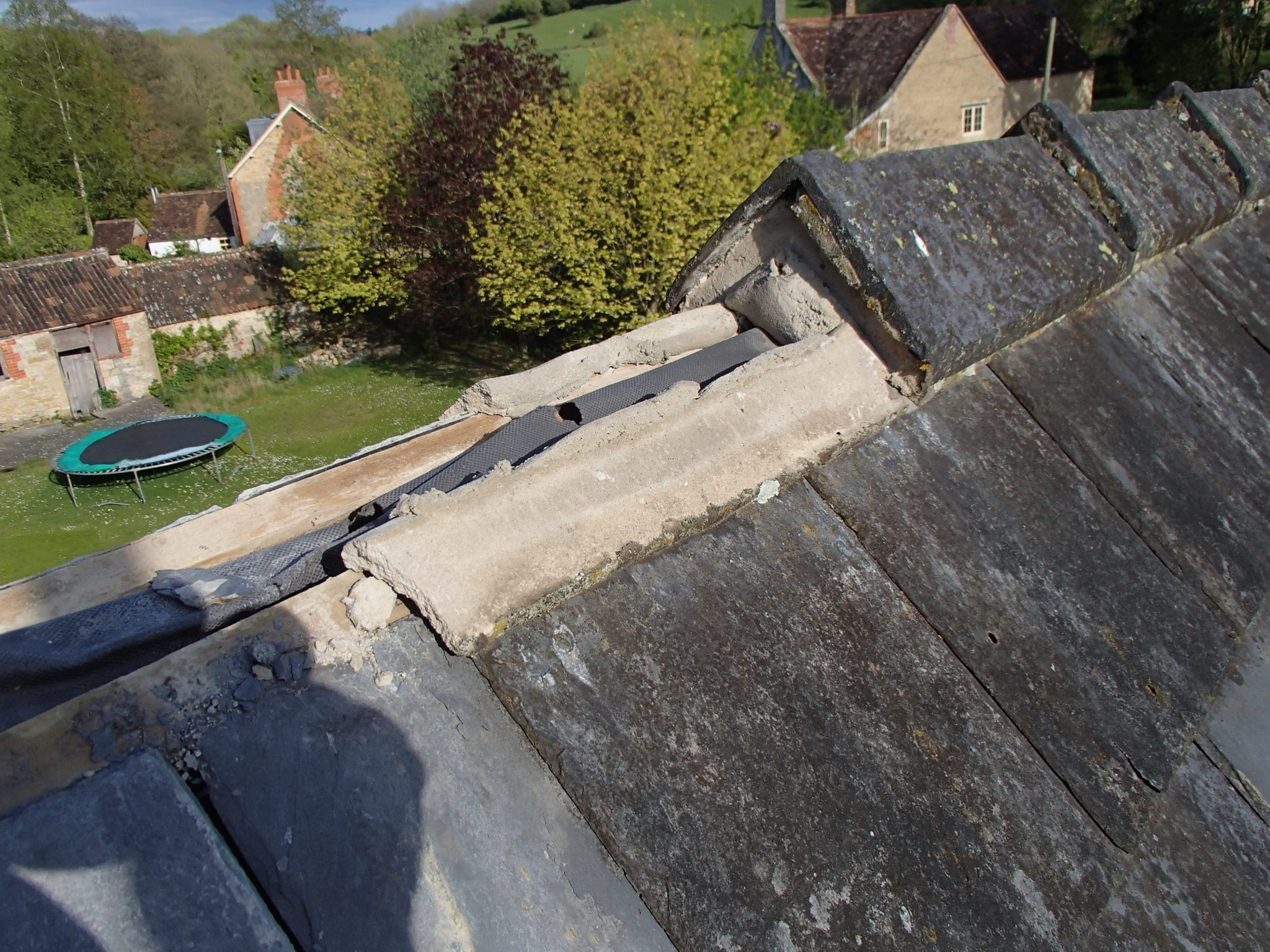 Bruton Somerset bee nest roof cutout 02